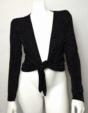 Ladies Chico's Travelers Packable Wrinkle Resistant Black Polka Dot Shrug Size 1