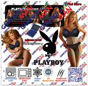 1 Nintendo Game Boy PLAYBOY ADVANCE SP AGS-101 🐇 SASHA BONILOVA KISS CUT LABEL