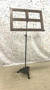 Antique Hamilton Adjustable Iron Base Music Stand