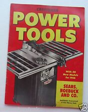 Catalog For Craftsman Power Tools 1956