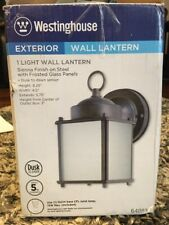 Westinghouse 6488300 One-Light Exterior Wall Lantern with Dusk to Dawn Sienna