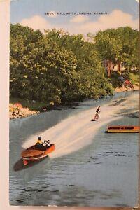 Kansas KS Salina Smoky Hill River Postcard Old Vintage Card View Standard Postal