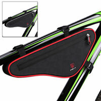 Bike Front Top Tube Triangle Frame Bag Pouch Pannier Bicycle Cycling Reflective