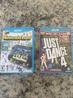 Lot Of 2 Games NINTENDO WII U DANCING GAME JUST DANCE 4 & Nintendo Land