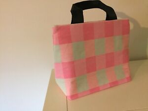 Pink Check Insulated Lunch Bag (next) Good Size