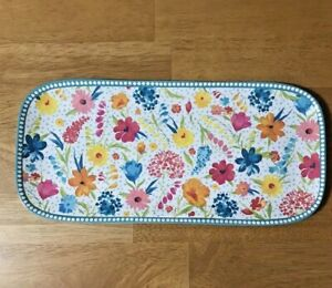 The Pioneer Woman Serving Tray Melamine Sunny Days Spring 2020 TEAL