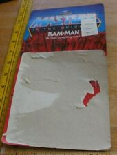 Ram-Man Masters of the Universe Mattel 1982 figure card backing ONLY!
