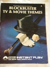BLOCKBUSTER TV MOVIE THEMES PLAY FOR ORGAN, PIANO, GUITAR & VOCAL MUSIC SONGBOOK