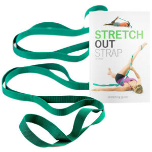 OPTP Stretch Out Strap with Instructional Exercise Booklet - Green