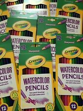 Crayola 12 Boxes Watercolor Colored Pencils Sharpened - 12 Boxes Of 12 Included