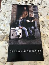 GENESIS RARE PROMO ONLY POSTER ARCHIVES #2: 1976-1992 PHIL COLLINS VARIANT 24X12