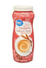 ☆NEW SEALED 15 OZ CINNAMON FRENCH TOAST NON DAIRY POWDER COFFEE CREAMER☆