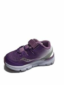 Saucony Toddlers' Freedom Iso Sneaker-Purple/White, Girl's Size 6XW.