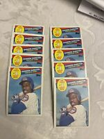1985 Topps #280 Shawon Dunston Chicago Cubs Rookie 8 card lot