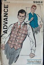 Vintage 1950s Advance mens vest pattern chest 42 inches, uncut