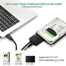 SATA to USB 3.0 2.5 3.5 in HDD SSD Hard Drive Converter Connector Cable Adapter
