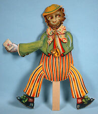 1920s or earlier Mechanical Die-cut Valentine Monkey Germany Jointed Arms & Legs