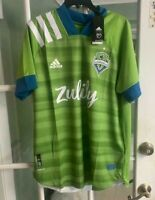 Adidas Seattle Sounders FC Home Jersey Green Zulily EH6214 Soccer NWT Size L