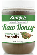 40 oz Propolis Enriched Organically Produced Fresh Natural Pure Raw Honey
