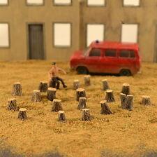 # H060 Medium Tree Stumps 20pcs HO and 1/72 Produits MP diorama souches arbres