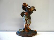 Vintage Cast Iron 'Golfer' Door Stop / Wedge
