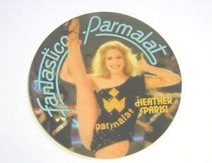 ADESIVO anni '80 / Old Sticker HEATHER PARISI FANTASTICO PARMALAT (cm 10) nero