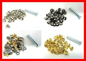 5mm Nickel/Gold/Black Eyelet Setting Tool Kit Fitting Set Card Setter Eyes Craft