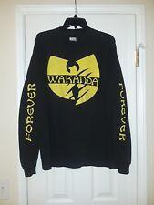 Wu-Tang Black Panther Wakanda Forever Long Sleeve T-Shirt L