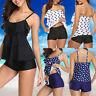 Damen Sommer Bikini Zweiteilig Push Up Bademode Badeanzug Beachwear Tankini Set