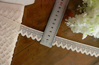 Polyester Edged Lace  CREAM - 23mm Wide  5 Metre Length  Flt6