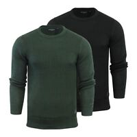 Brave Soul Sotah Mens Jumper Cotton Knitted Crew Neck Sweater