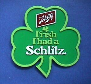 Schlitz PIN St Patrick Vintage BEER Irish I Had A Shamrock Holiday Advertising