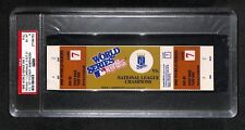 1985 WORLD SERIES GAME 7 FULL TICKET ROYALS 1ST WS TITLE CLINCHER IN HISTORY PSA