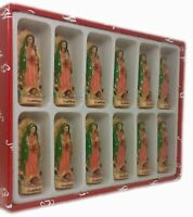 """3"""" Set of 12 Our Lady of Guadalupe Figurine Statue New"""