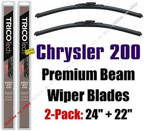 Wipers 2-Pack Premium Beam Wiper Blades - fit 2011-2014 Chrysler 200 - 19240/220