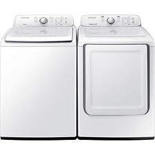 Samsung Top Load 4.0 Washer & 7.2 Electric Dryer Set Wa40J3000Aw Dv40J3000Ew