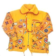 LAPAGAYO Yellow Red Floral Pattern Light Cotton Kids Youth Girls Jacket Sz 6