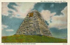 Ames Monument, Sherman Hill, Wyoming, USA postcard (Sanborn, no.908) 1940s
