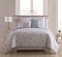 5 Piece Luisa Light Blue/Lilac Comforter Set Full