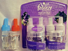 3 PACK FEBREZE NOTICEABLES MEDITERRANEAN LAVENDER DUAL SCENTED OIL FREE SHIPPING