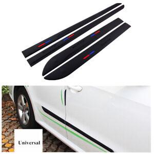 Universal Black Car Body Door Side Trims Edging Strip Sticker Adhesive Tape 4Pcs