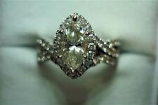 NEIL LANE 1 3/4 DIAMOND WEDDING SET  14k WG SZ 6 RETAIL $6599.00
