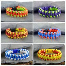Paracord Survival Bracelet - Woven Wave - Friendship Bracelet - Handmade UK