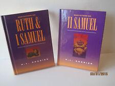 Ruth & 1 Samuel & 2 Samuel by H.L. Rossier, Lot of 2 Books