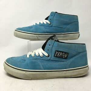 VANS Men 12 Half Cab Pro Skateboarding Sneakers Blue Suede Casual Shoes  Mid Top