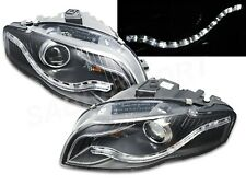 Black Projector Headlights w/ LED DRL for 06-08 Audi A4 w/ Halogen Headlights