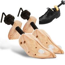 Mens Shoe Stretcher x 2 Pine Wood Shaper Double Tube Shoe Trees Pair Of Uk 7 -12