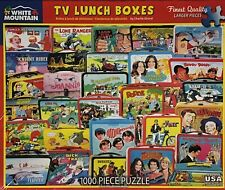 TV Lunch Boxes White Mountain Puzzle 1000 Piece Jigsaw Made In USA #1471