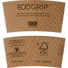 New 100 EcoGrip Dimpled Coffee Hot Cup Sleeves Eco Products EG-2000, Compostable