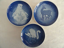 THREE (3) B&G Mother's Day Blue & White Porcelain Plates: 1974 - 1975 - 1976